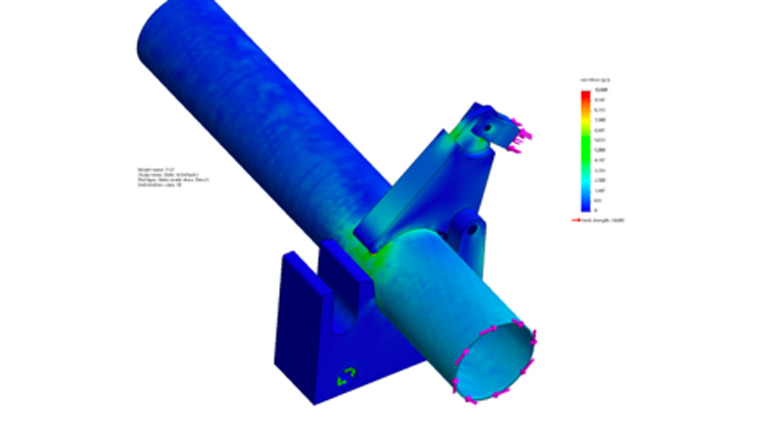 finite element analysis stress and strain calculation